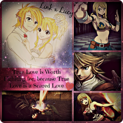 Commission: Link x Lucy Quote Collage by YellowKiiroitori