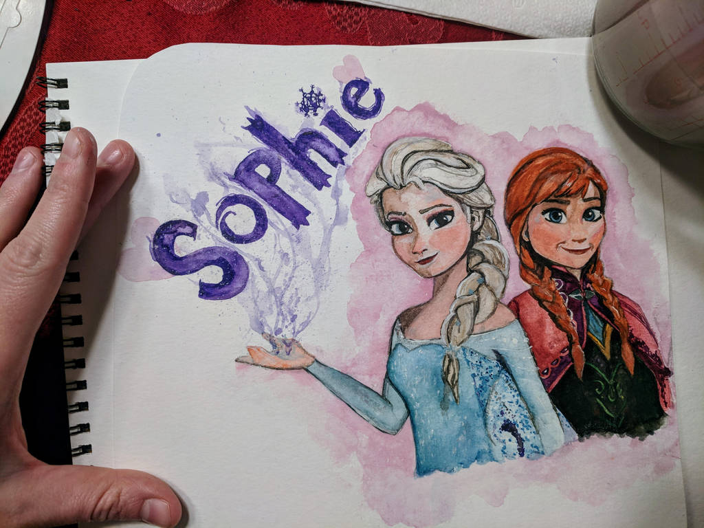 Frozen painting for 3 year old student by N4trs-pR1d3
