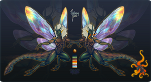 Secati Adopt reveal - Fluttering Jewel (CLOSED!) by ShemeiArt