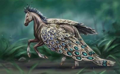 Pegasus - Peacock Pheasant by Egretink