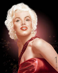 Marilyn Monroe - Autumn Red by MayFong