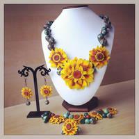 Sunflower Set by Merlyn-Wooden