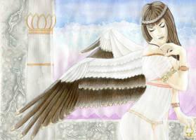 Winged Nekhbet by WendyLynn