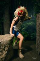 Princess Mononoke: On the Prowl by xYaminogamex
