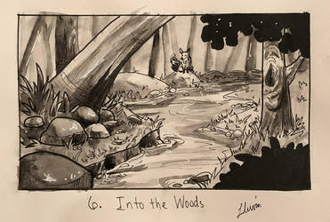 Inktober 2018 Day 6: Into the Woods by xYaminogamex