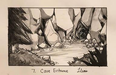 Inktober 2018 Day 7: Cave Entrance by xYaminogamex