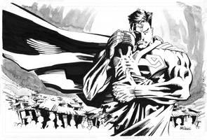 Superman Holding Child by ScottMcDaniel