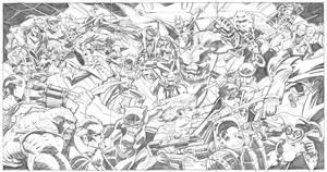 BATMAN FAMILY versus ROGUES GALLERY! by ScottMcDaniel