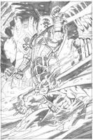 BATMAN versus MISTER FREEZE by ScottMcDaniel