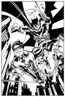 BATMAN and NIGHTWING by ScottMcDaniel