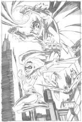 BATMAN and ROBIN (Stephanie Brown) by ScottMcDaniel