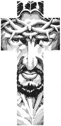 Jesus Christ Cruciform by ScottMcDaniel