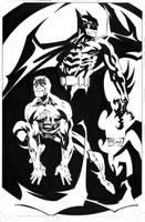Daredevil Batman promotional art by ScottMcDaniel