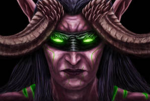 Illidan Stormrage by JustinFowlerArt