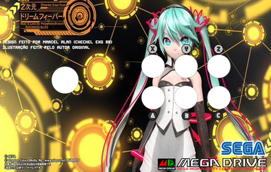 2D Dream Fever Arcade Art (Mega Drive) by ChechelEXGBR