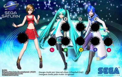 Vocaloid V3 Arcade Art (Saturn) by ChechelEXGBR