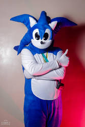 Sonic The Hedgehog Cosplay Pose 01 by ChechelEXGBR