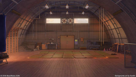 Sunset in the old gym by Surafin