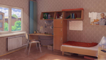 Student room on hostel by Surafin