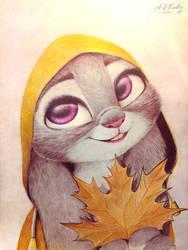 Judy Hopps drawing  by AndrejSKalin