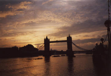 Sunset over Tower Bridge by Erlist