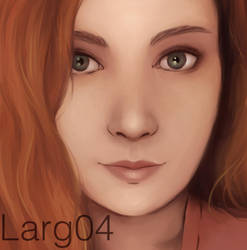 Selfie portrait 2 by lady-largo