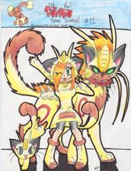 Pokemon comic cover-Amber by PachirisuLuva