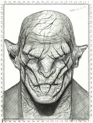Azog Drawing - The Hobbit by carldraw