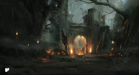 Entrance to Hata Zukal by TitusLunter