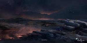 Burning plains of Khalon by TitusLunter