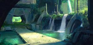 Waterfall Walkway by Liammacd