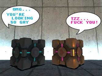 Dissin Companion Cube by dj-corny