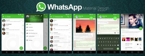 WhatsApp - Material UI by dj-corny