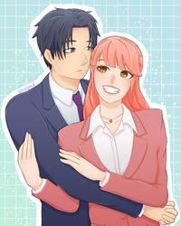 Hirotaka and Narumi | Wotakoi by SayLynd
