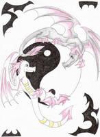 :.Ying Yang Dragons.: by Demonic-Haze