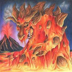 Lava Dragon by Demonic-Haze