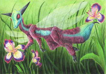 Jewel Mantis Dragon by Demonic-Haze