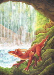 Behind The Waterfall by Demonic-Haze
