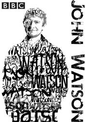 John Watson BBC Typography Portrait by BluePhyre