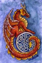Dragon Painting by ladyfireoak