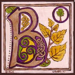 Letter B by ladyfireoak