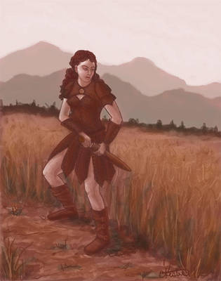 Ki'Navi character Sketch by ladyfireoak