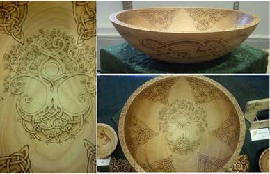 Celtic Tree Of Life Bowl by ladyfireoak