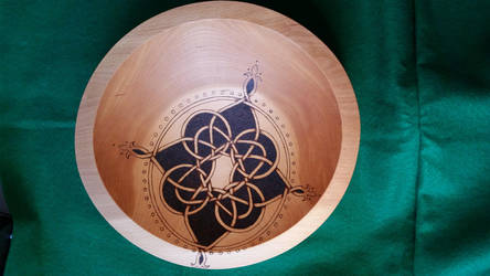 Celtic Compass Rose Bowl by ladyfireoak
