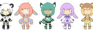 Five adopts in a row (Closed) by Rusty-Adopts