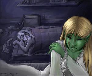 Watching him Sleep by AliWildgoose