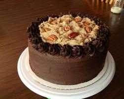 German dark chocolate cake by Deathbypuddle