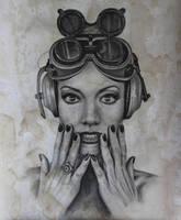 Steampunk Girl 1 by joannesotoart