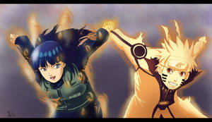 Commission: NaruHina - do it together by Amenoosa