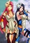 Naruto Anbu girls - Kushina and Mikoto by Amenoosa